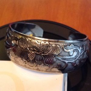 STERLING SILVER 925 STAMPED BOLD CUFF